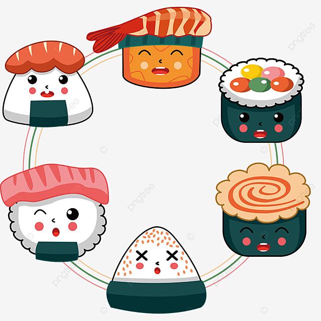 delicate sushi border