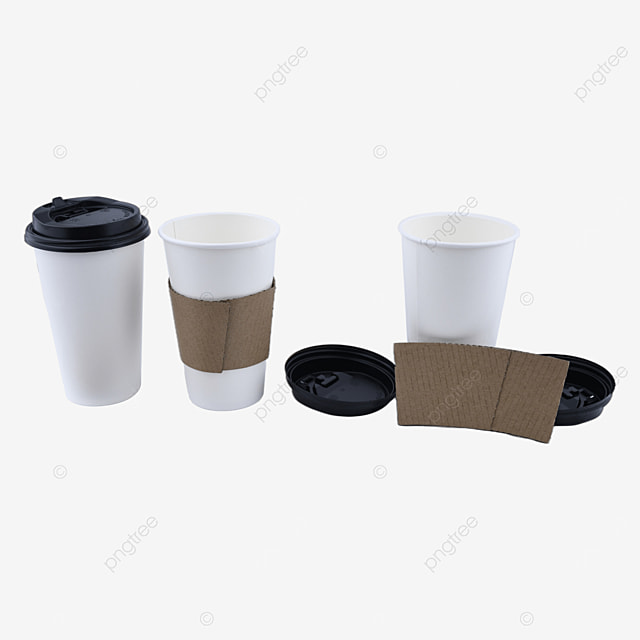disposable paper cup caffeine container