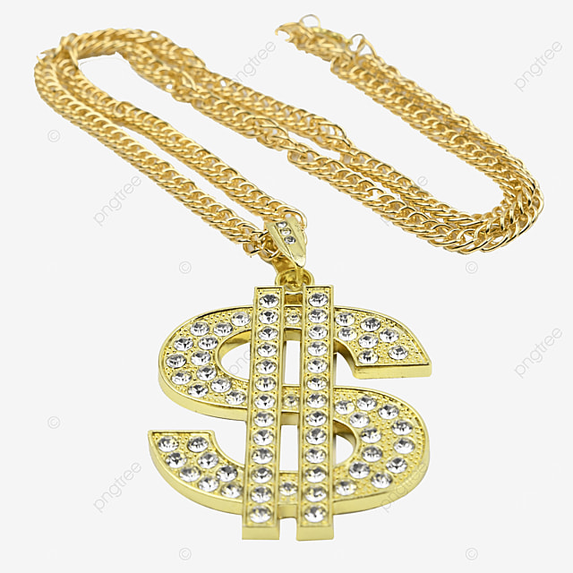 dollar sign gold accessory