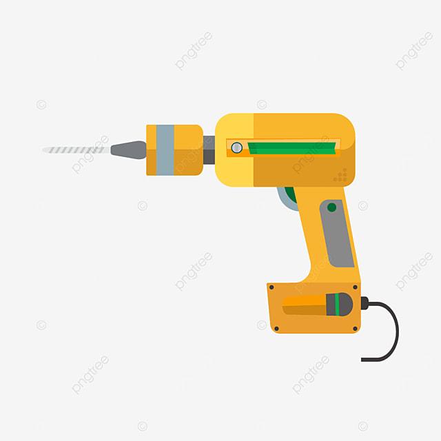 drill bit with green spirit level clipart
