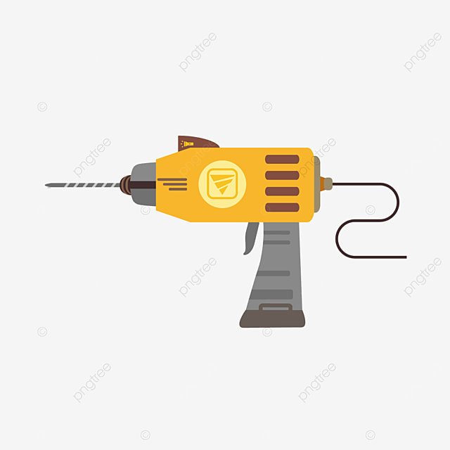 drill bit with illuminated power cord clipart