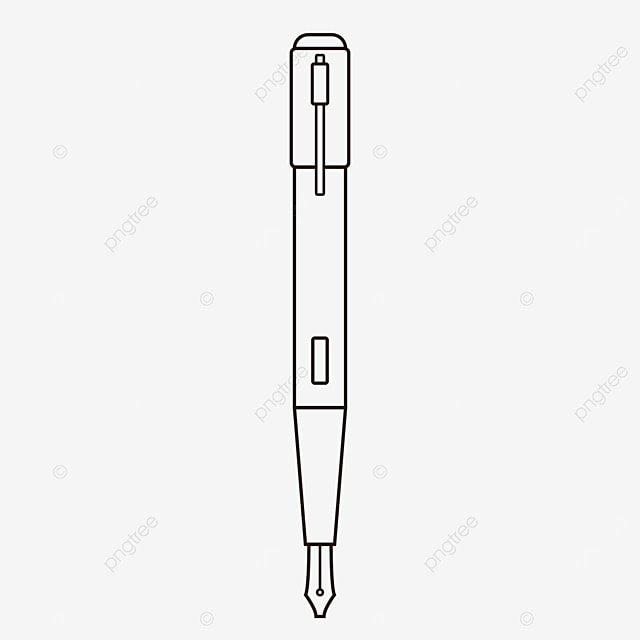 front pen clipart black and white