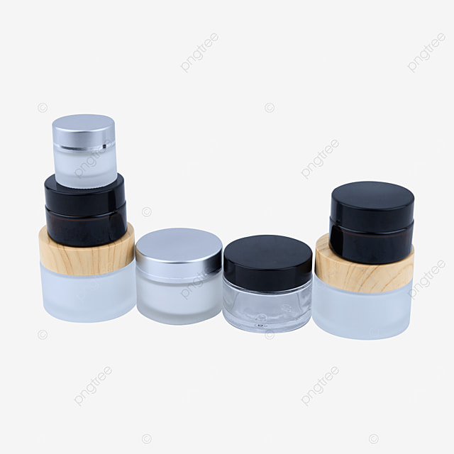frosted glass cosmetic bottle container set box