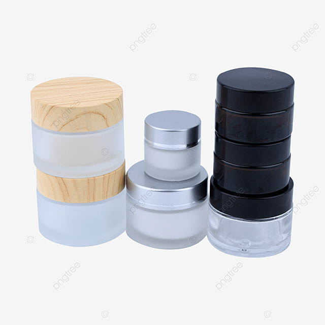 frosted glass cosmetic set cans