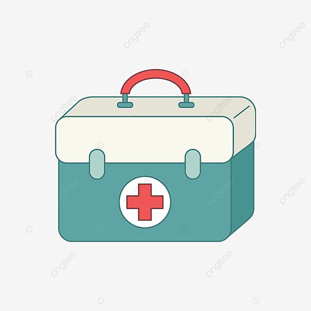 green beige first aid kit clip art