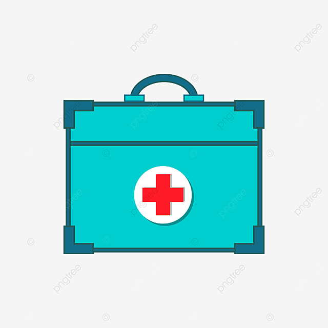 green protective first aid kit clipart