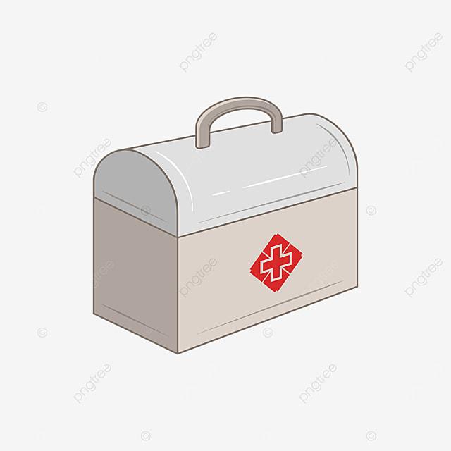 grey first aid box clip art