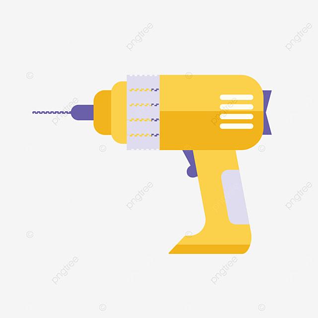 handheld wireless charging drill bit clip art