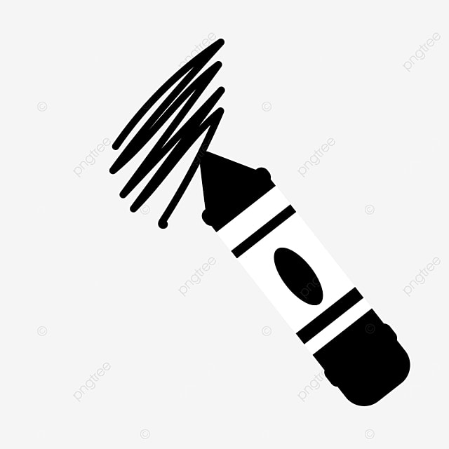 handwriting stationery painting crayons clipart black and white