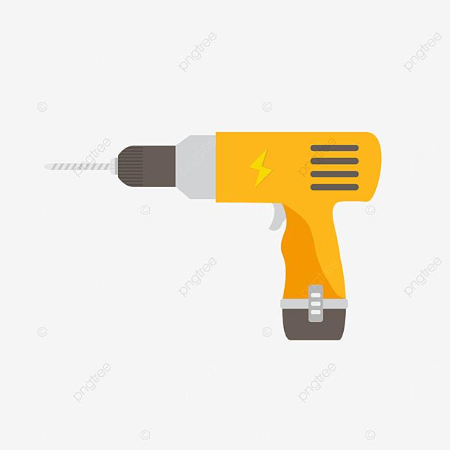 household mini wireless drill bit clip art