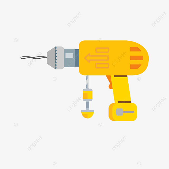 industrial drill bit with handle clipart