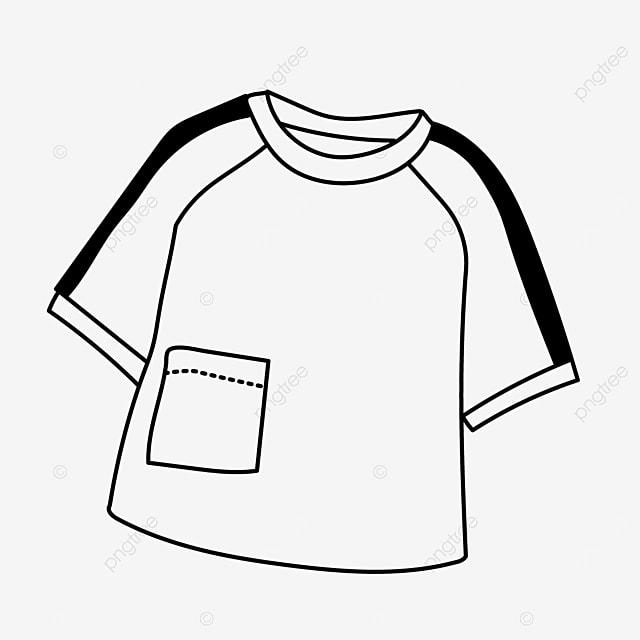 pocket short sleeve dress shirt clipart black and white