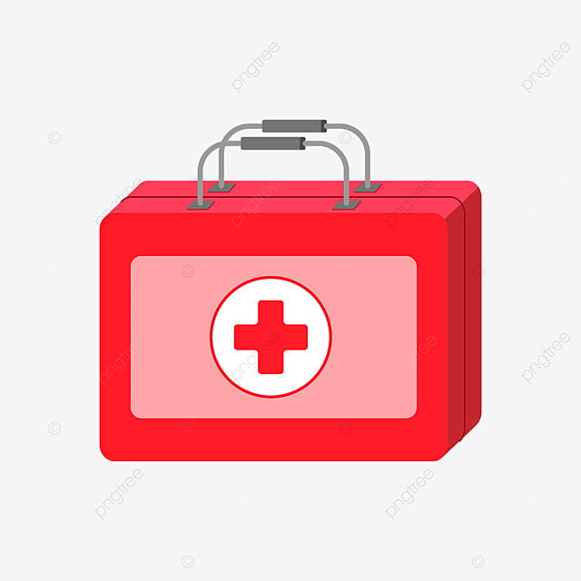 red first aid kit clipart