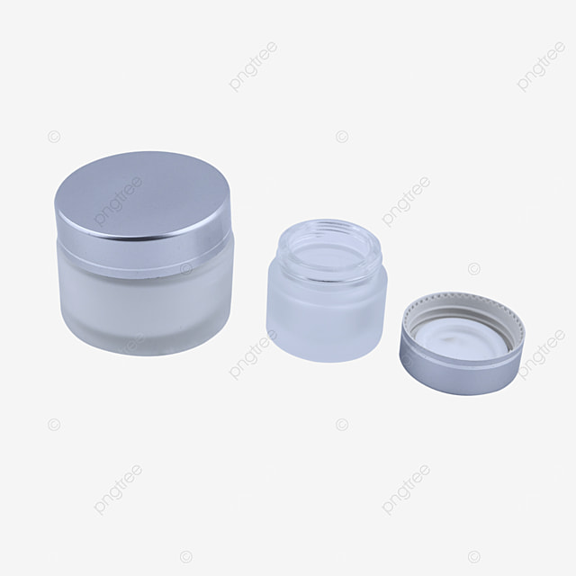 silver frosted glass cosmetic bottle container