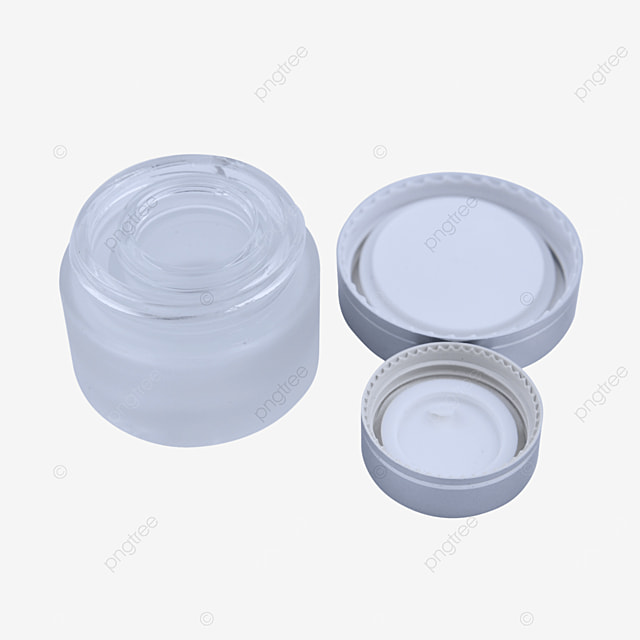 silver frosted glass cosmetic cream box
