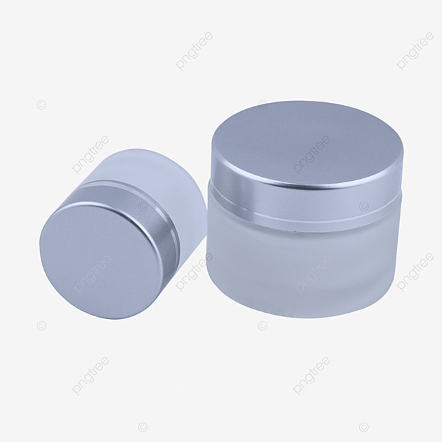 silver frosted glass eye cream makeup bottle
