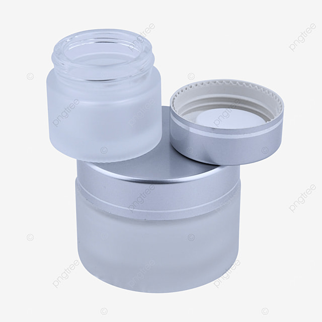 silver frosted glass filling jar