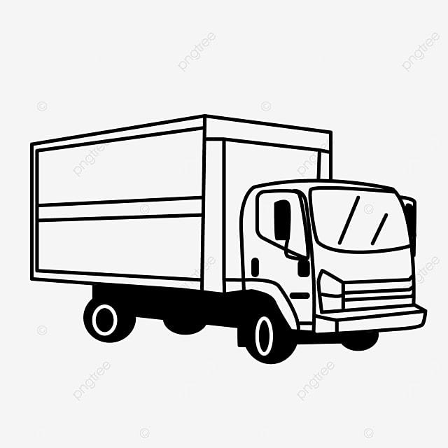 transportation medium car truck clip art black and white