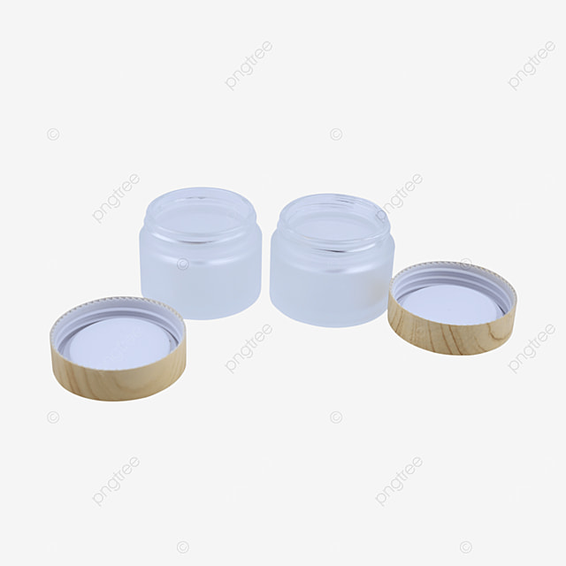 wood grain cover face cream cosmetic glass packaging box