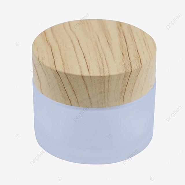 wood grain cover glass travel sample portable bottle