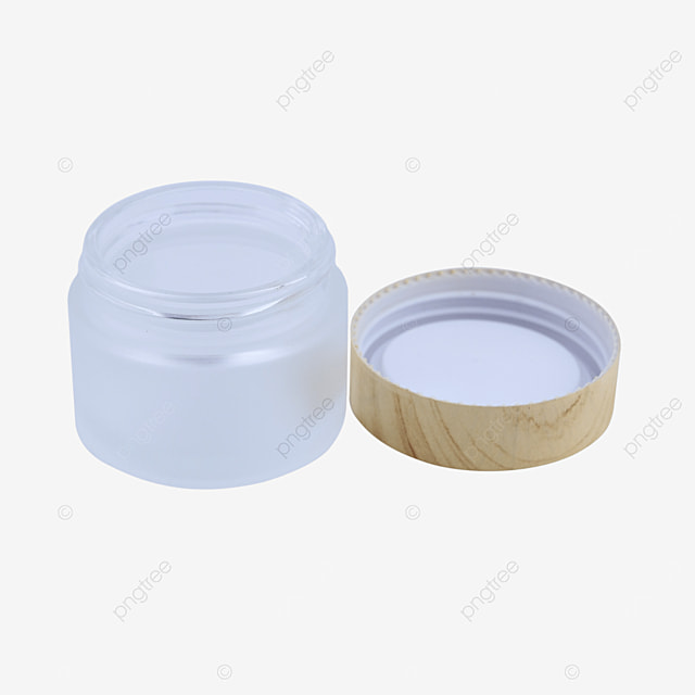 wood grain lid glass cosmetic empty bottle container