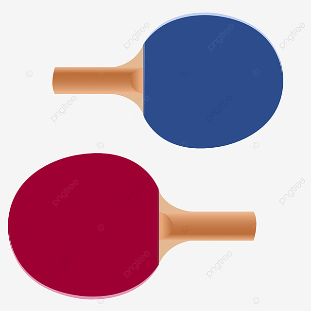 a pair of reverse wooden table tennis clipart