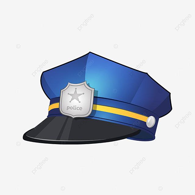 blackout silver badge police cap clip art