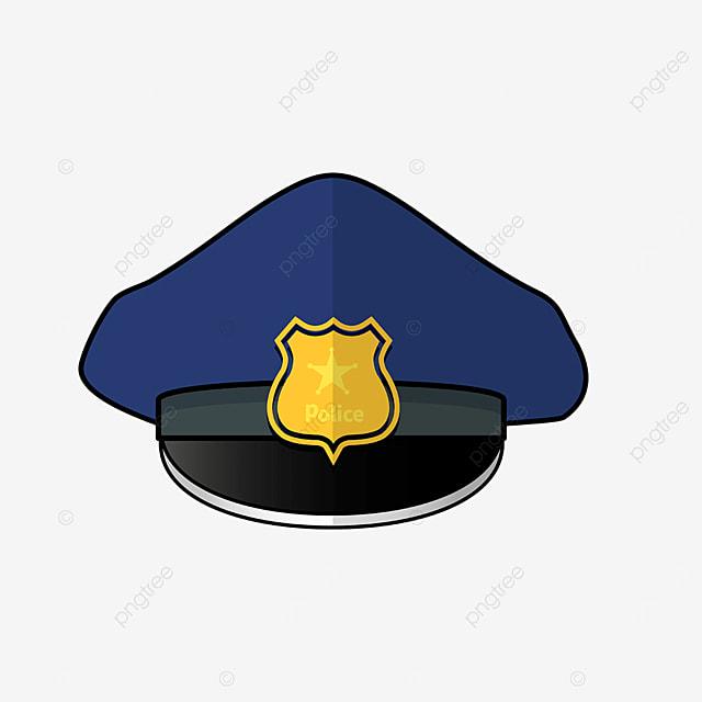 blue blackout police cap clipart