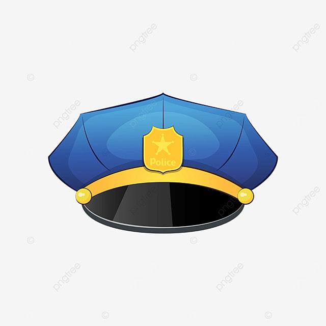 bright police cap clipart