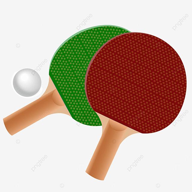 cartoon polka dot textured wooden table tennis clipart