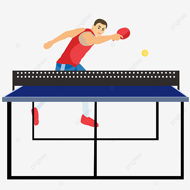 character competition practice table tennis clipart