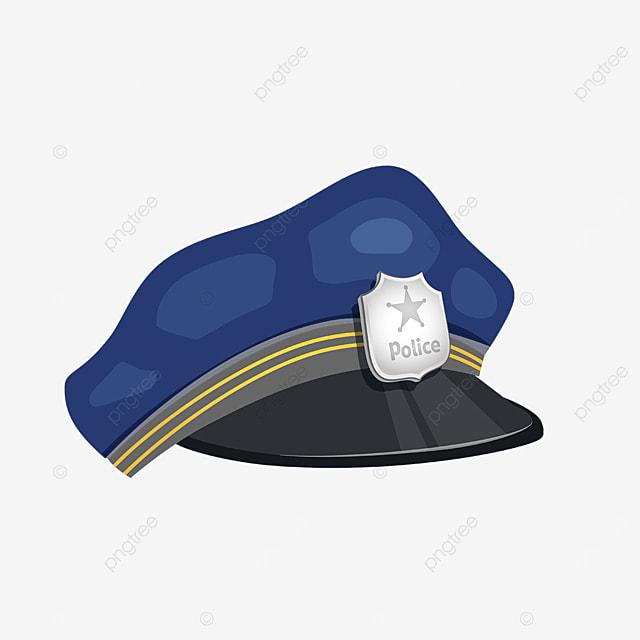 dark blue blackout police cap clip art