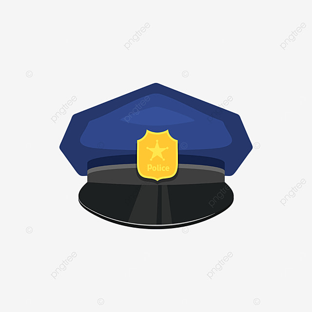 dark blue police cap clip art