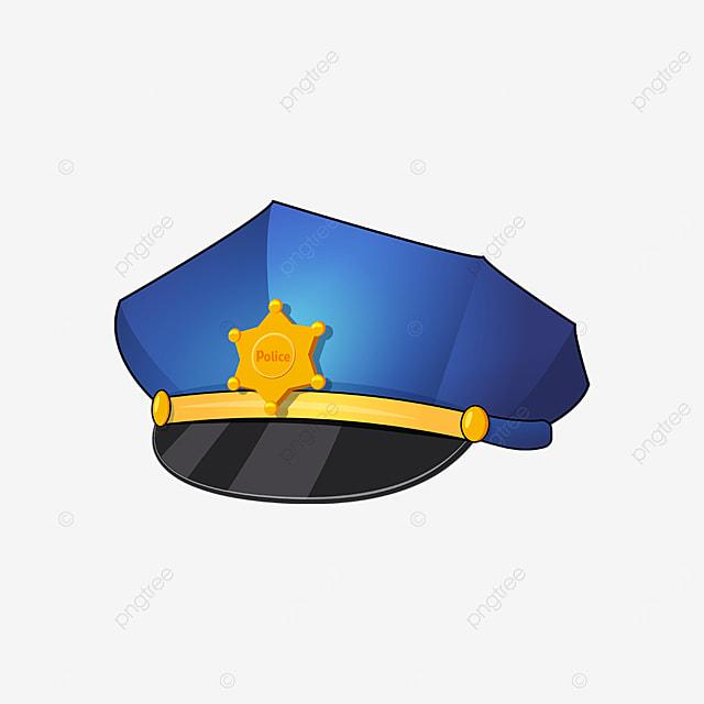 golden badge police cap clip art
