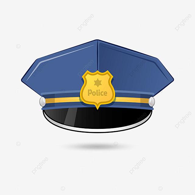golden badge tough police cap clipart
