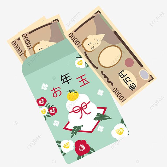 kagamochi camellia pattern japanese new year red packet