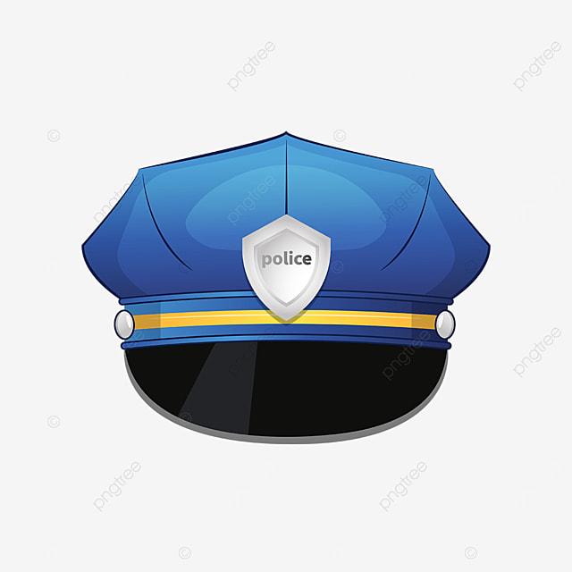 silver badge blackout police cap clip art