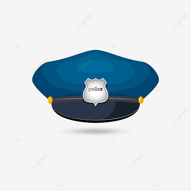silver badge police cap clip art