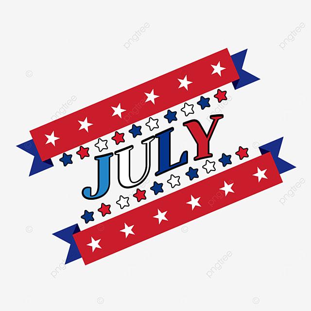 stars banner decoration july clipart svg