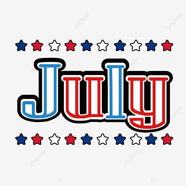 stars decorative stroke font july clipart svg