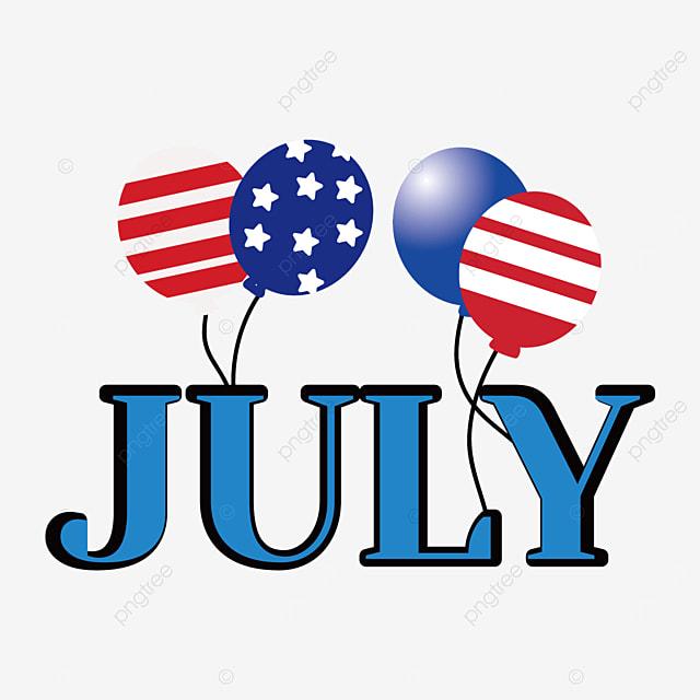 textured american balloons july clip art svg