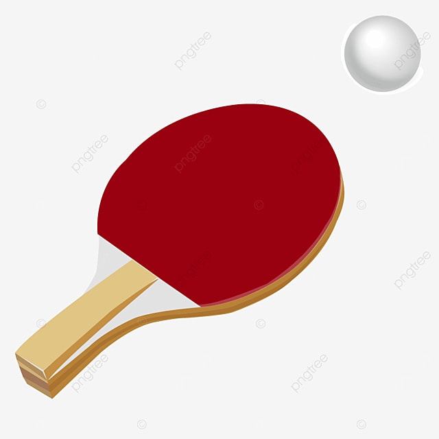 textured layered wood red ping pong clip art
