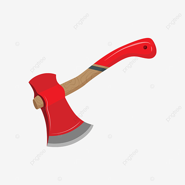 axe with red handle clip art