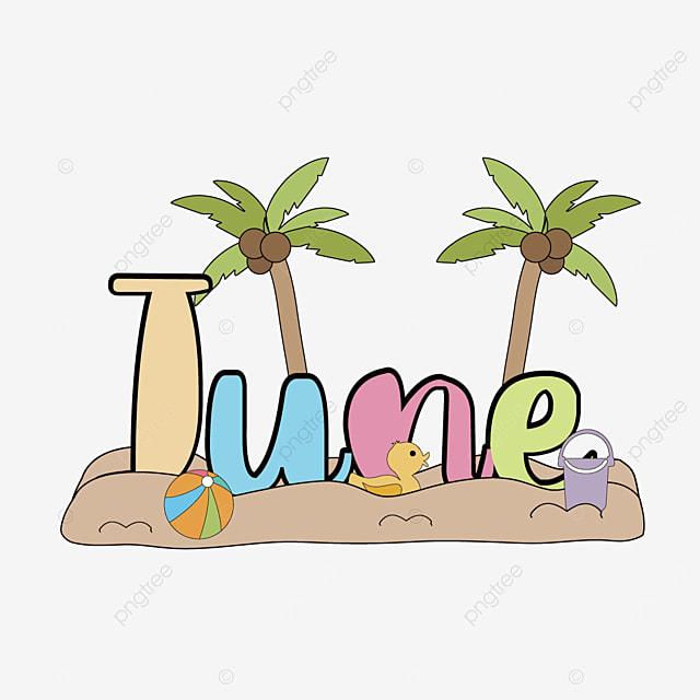 beach coconut tree june clip art svg