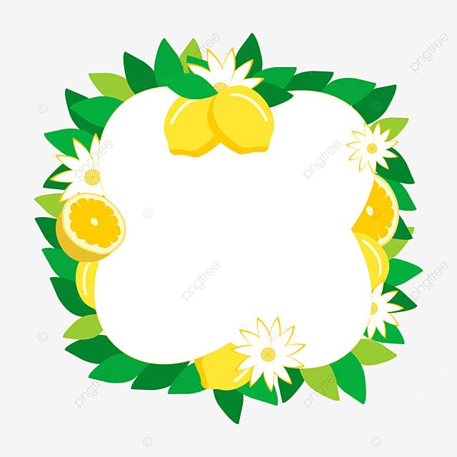 beautiful creative lemon border