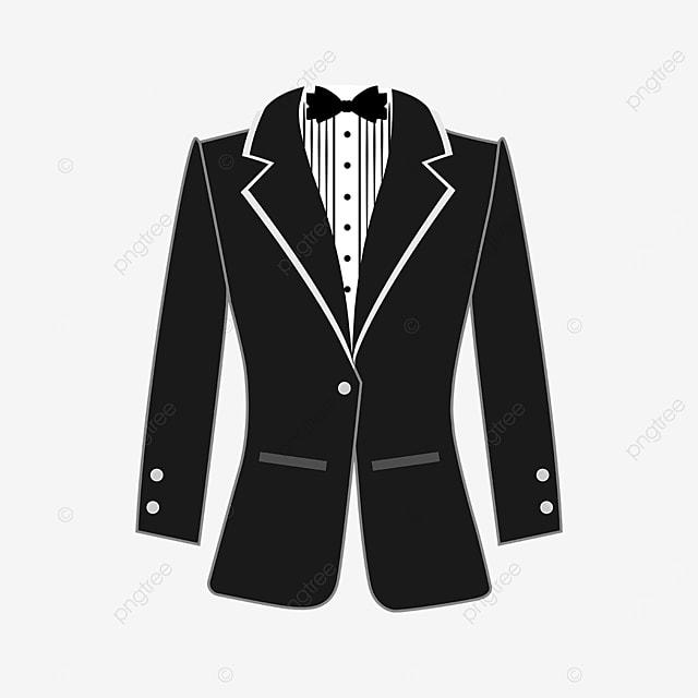 black gentleman tuxedo clipart