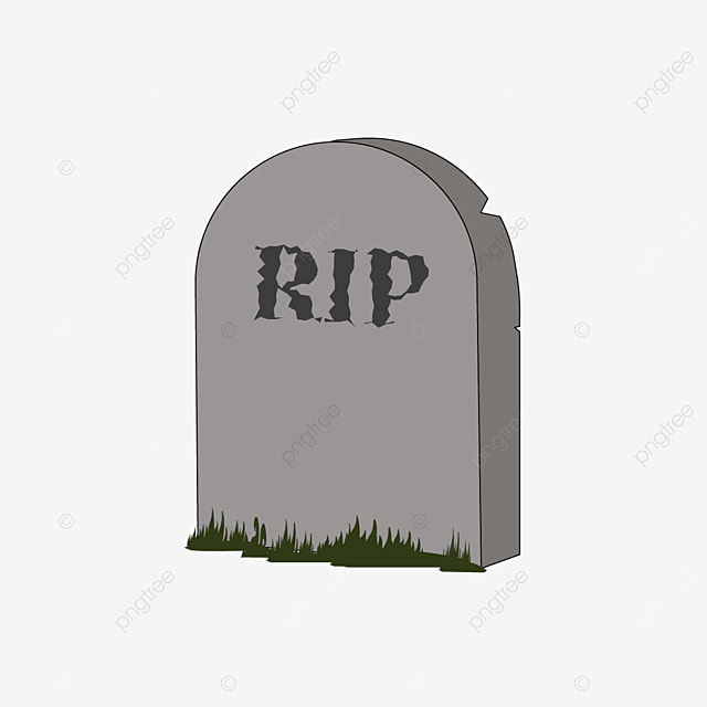 black grass cracked tombstone clipart