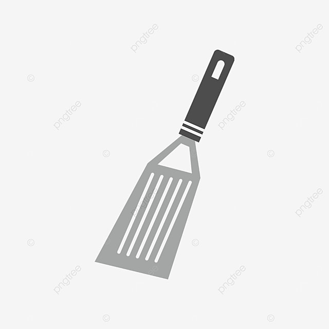 black handle spatula clip art