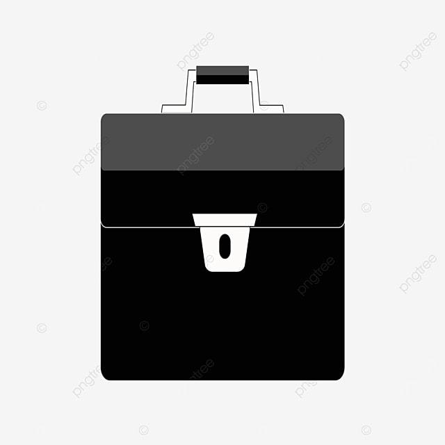 black shiny briefcase clipart