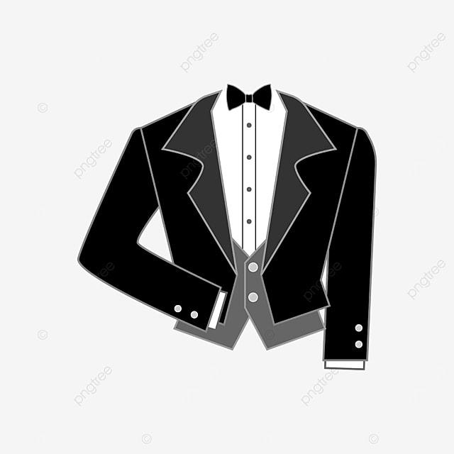 black short tuxedo clipart